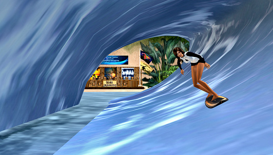 Virtual surfing: is this tarp surfing?