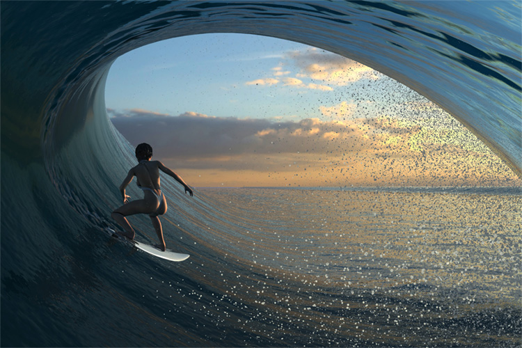 Virtual Surfing: the new surfing game features realistic waves
