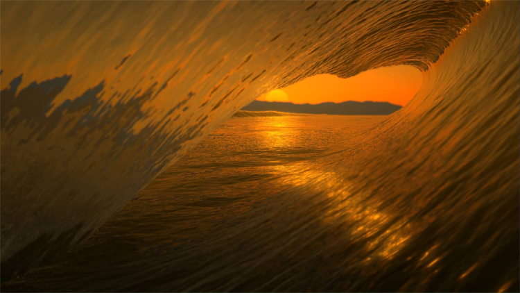 Virtual Surfing: the game feature impressive simulations of the water's surface | Photo: Waveor