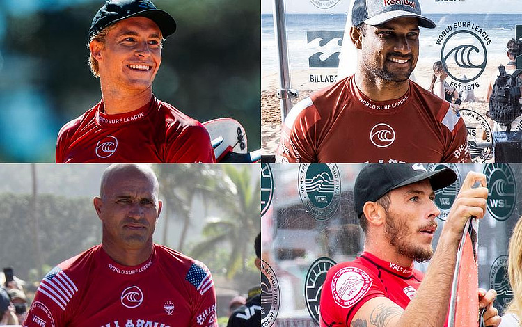 Ewing, Bourez, Slater and Freestone: the 2019 Triple Crown of Surfing title contenders | Photo: VTCS