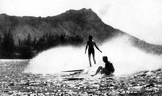 Waikiki, 1945: surfing has always been a national sport, here