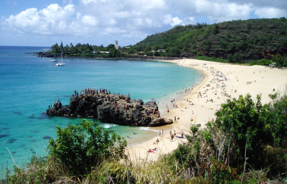 Waimea Bay: no more World War II relics