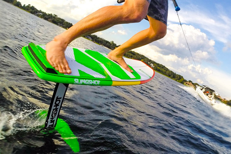 Wake foiling: blending the pleasures of wakeboarding with hydrofoil innovation | Photo: Slingshot