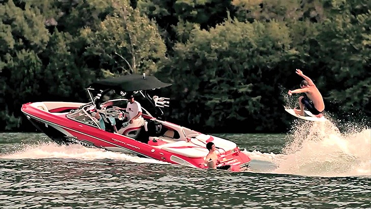 Wake Surfing: wakeboarding without ropes