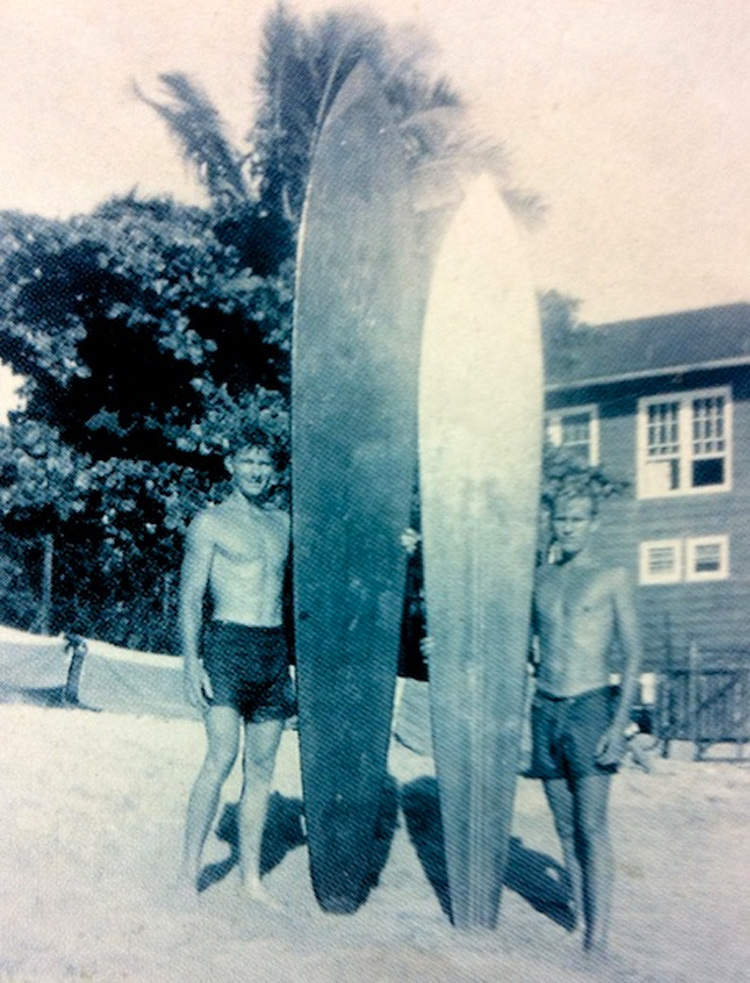 Wally Froiseth (left) and Dickie Cross (right): big wave surfing pioneers | Photo: EOS