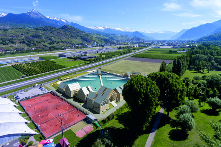 Alaïa Bay: a wave pool in the heart of the Swiss Alps | Photo: Wavegarden