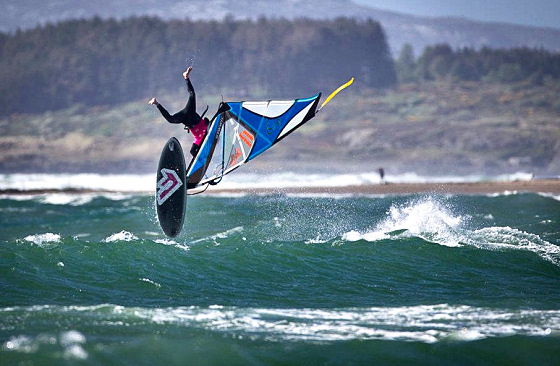 Wales: crazy wave windsurfing allowed here