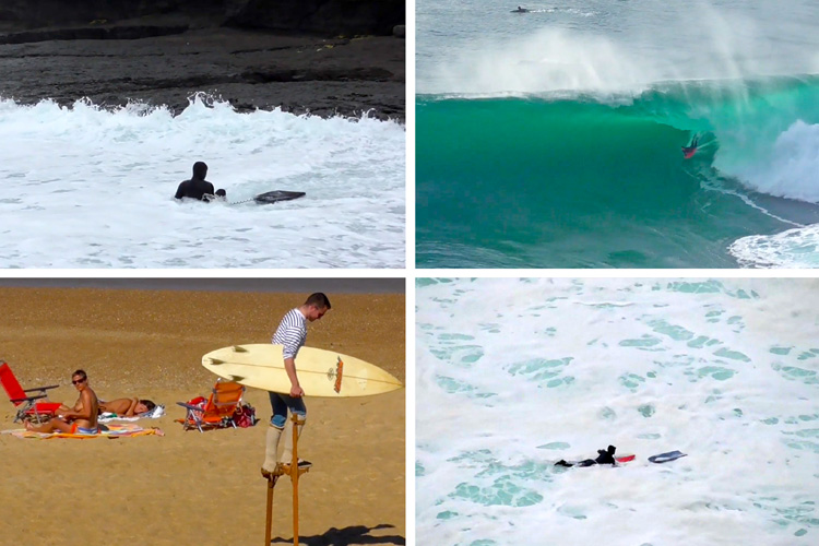 Whiskey, Water & Wine: a wave riding video clip featuring intense moments