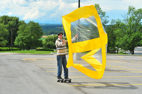 Windpower Super Skate Sail: get anywhere, fast