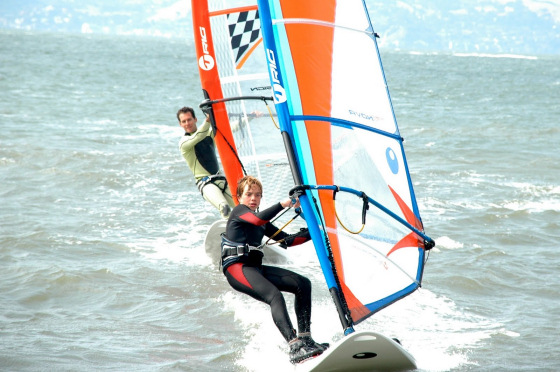 St. Francis Yacht Club windsurfing clinic: the teacher is watching you