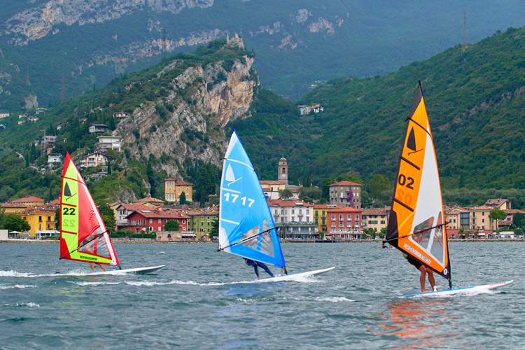 Windsurfer World Championships: there was plenty of wind at Lake di Garda | Photo: Circolo Surf Torbole