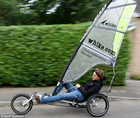 Windsurfing bike: roads will be full of sailors