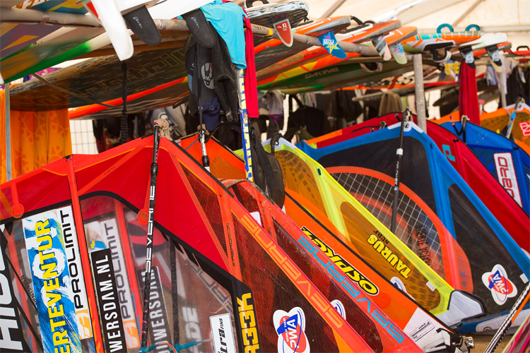 Windsurfing equipment: protect your sail, board, and accessories from the elements | Photo: Carter/PWA