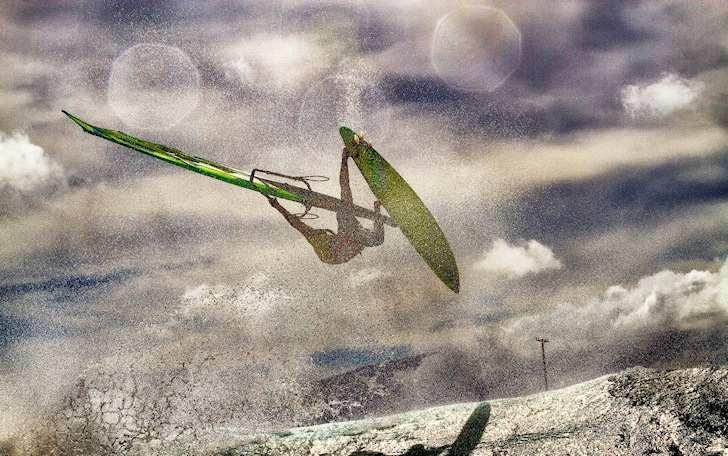 Windsurfing jumps: find the wave ramp and pop off