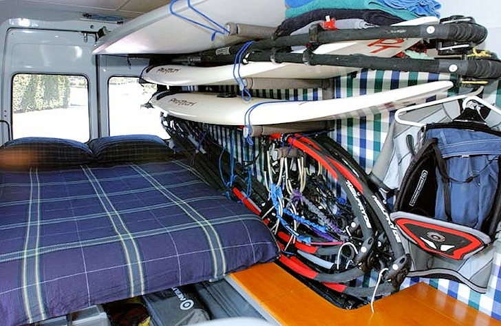 The Ultimate Windsurfing Van: better than a 5-star hotel
