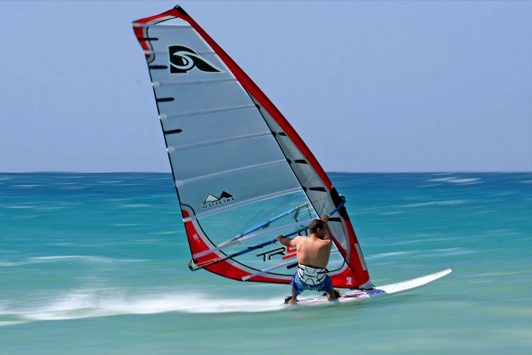 Planing in windsurfing: like flying over water