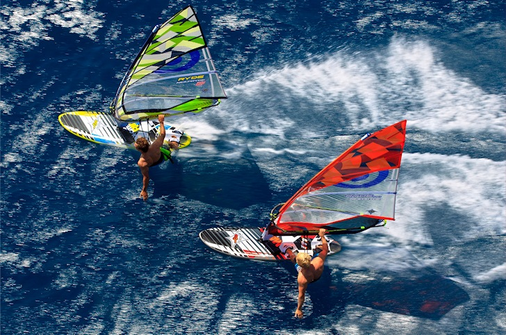 How does a windsurfing sail work?