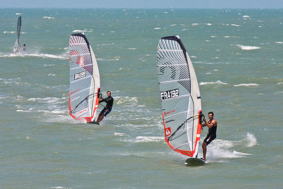 Brazilian Slalom Nationals: there's a mysterious French sail in there...