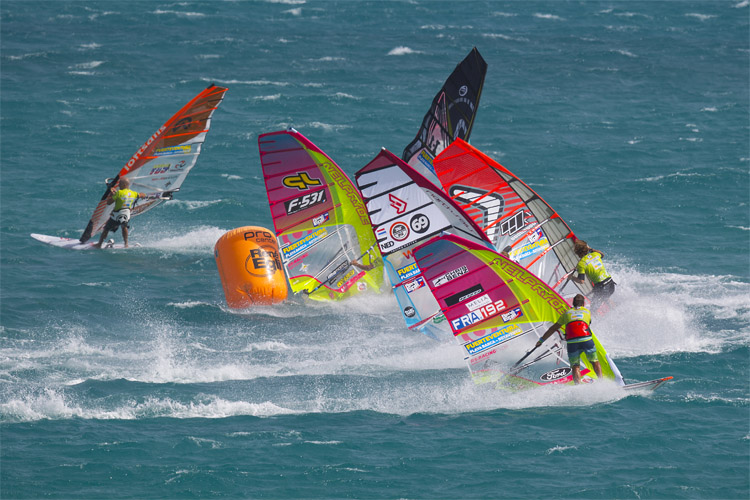 Tacking: key move in windsurfing