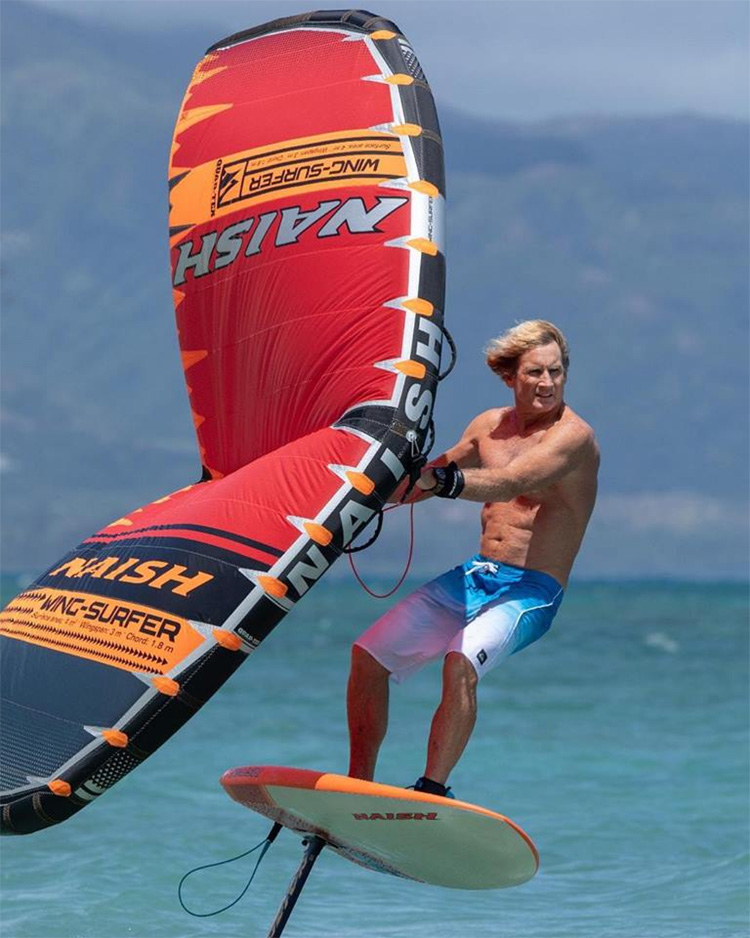 Wing-Surfer: a simple and fun sail for foiling | Photo: Robby Naish