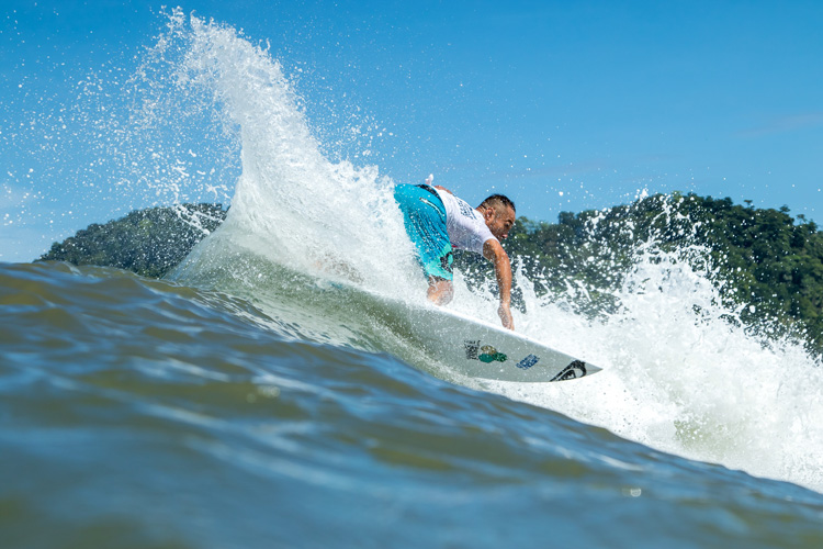 Masatoshi Ohno: surfing for Japan in the ISA World Surfing Games | Photo: Jimenez/WSL