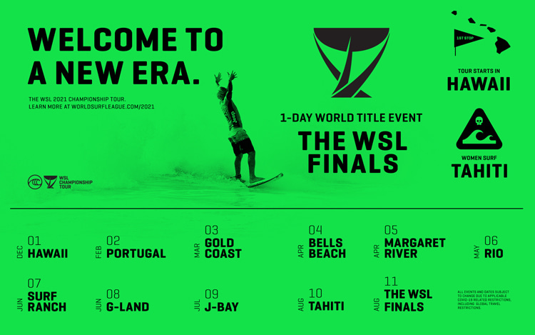 The WSL Finals: a single-day event featuring the top 5 men and women