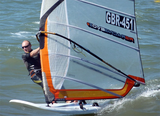 Xavier Ferlet: beated windsurfers and kitesurfers