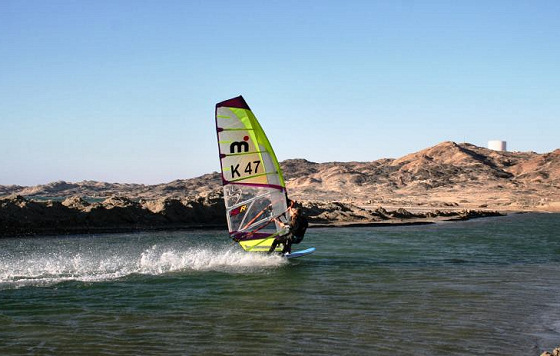Zara Davis: setting speed records in Luderitz
