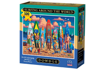 Dowdle's Surfing Around the World 500-Piece Jigsaw Puzzle