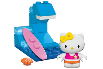 Mega Bloks Hello Kitty Surfing Toy Figure